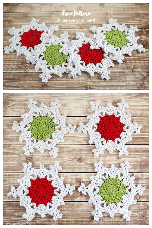Christmas Snowflake Coaster Free Crochet Patterns