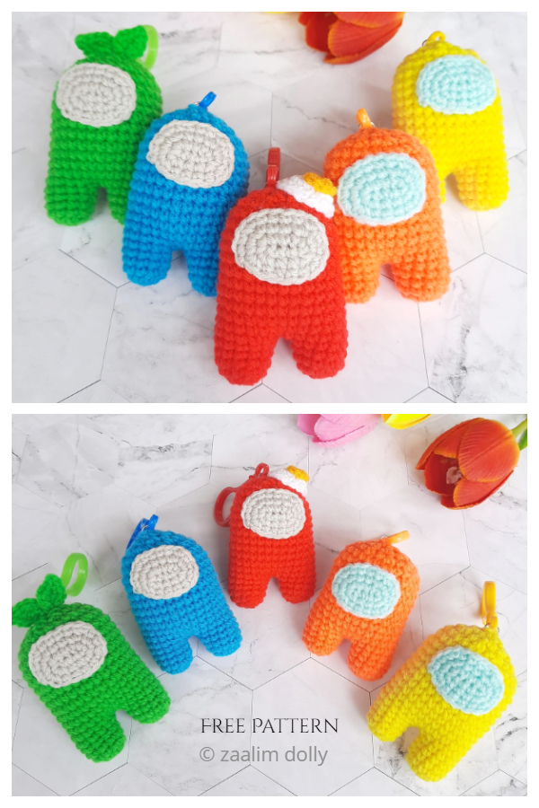 Crochet Among Us Amigurumi Free Patterns
