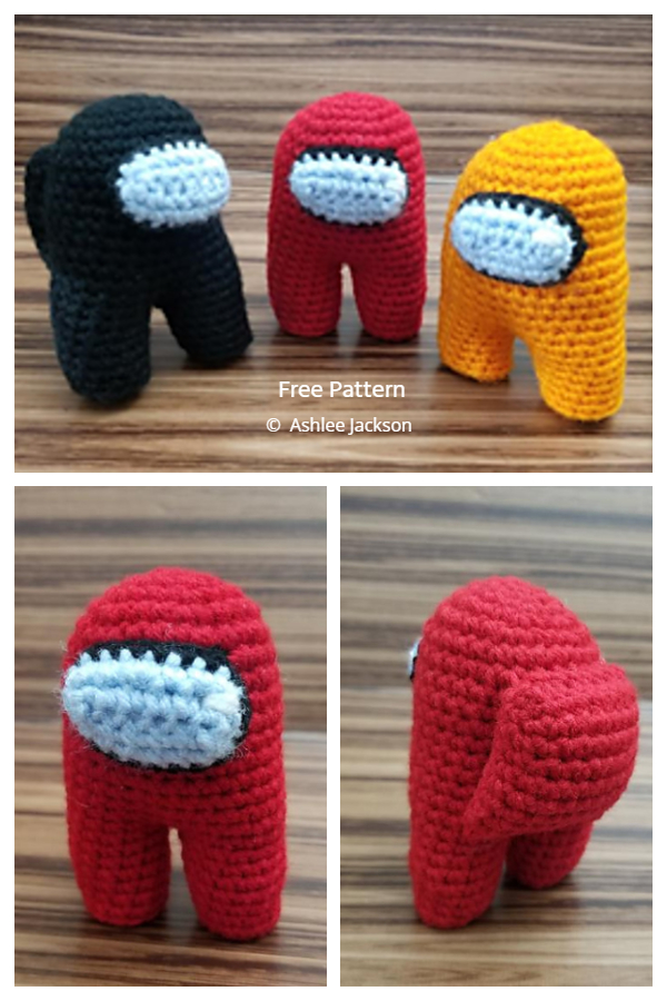 Crochet Among Us Crewmate Amigurumi Free Patterns