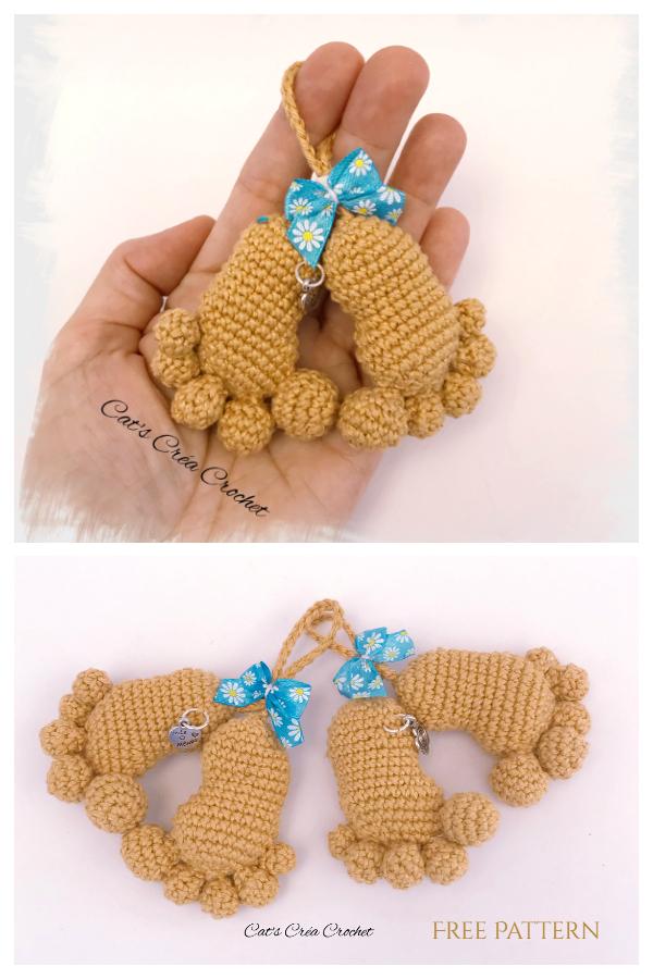 Crochet Baby Footprints Amigurumi Free Pattern + Video