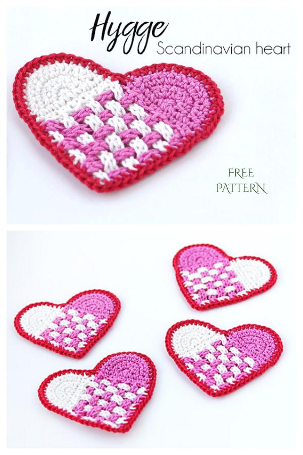 Scandinavian Heart Free Crochet Patterns