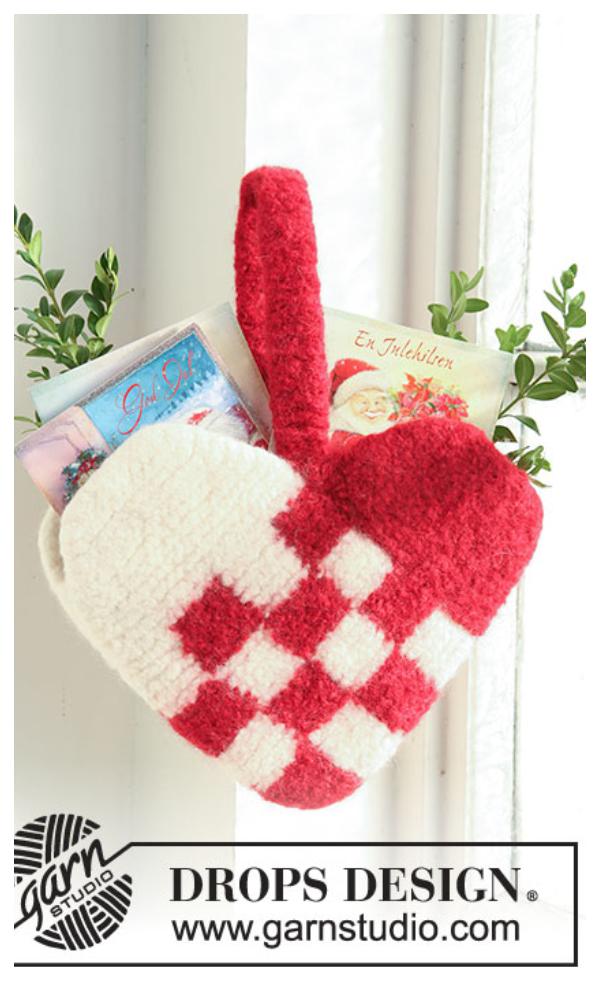 Braid Danish Heart Free Crochet Patterns