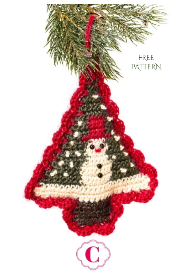 Snowman Christmas Tree Ornament Free Crochet Patterns