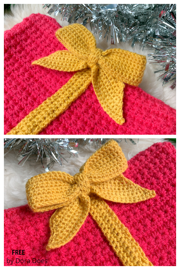 Easy Decorative Gift Bow Free Crochet Patterns