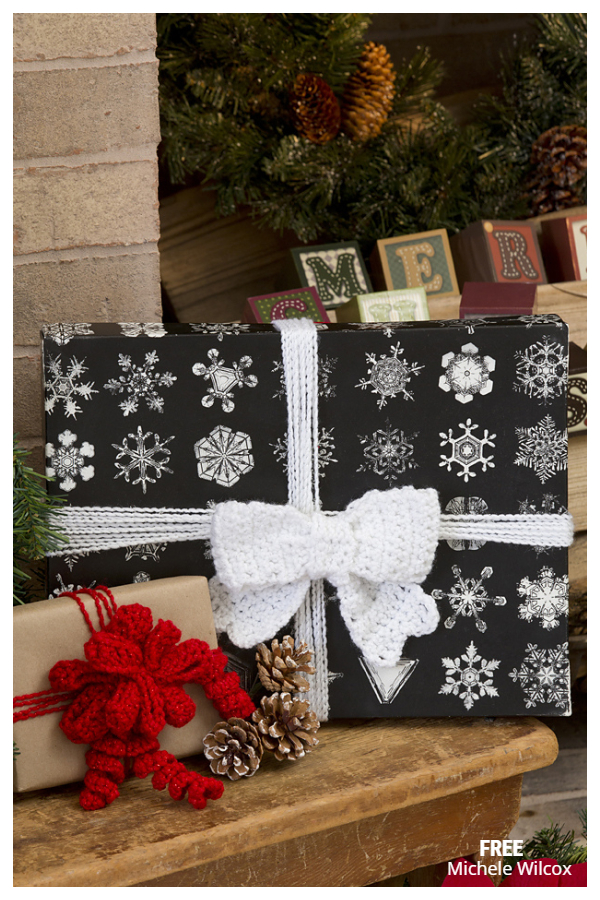 Glamour Gift Bow Free Crochet Patterns