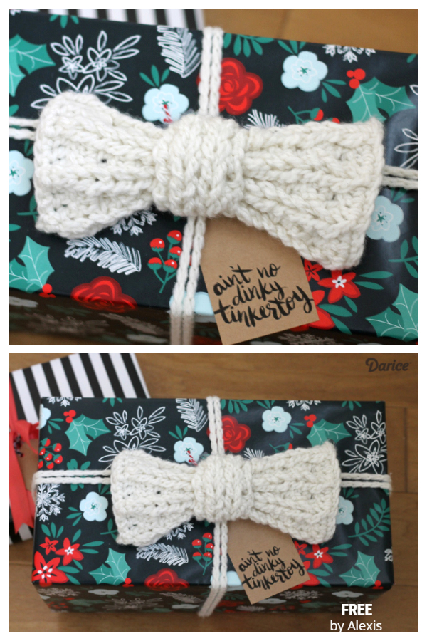 Chunky Gift Bow Free Crochet Patterns