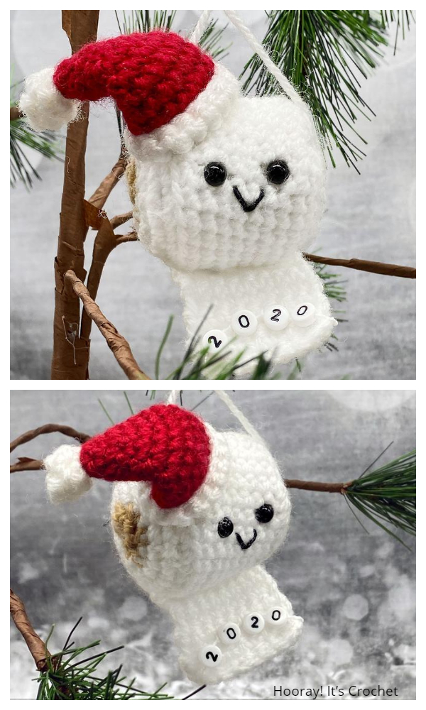 Quarantine Christmas Ornaments Free Crochet Patterns