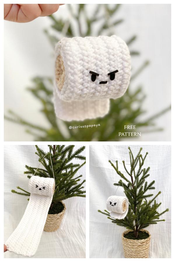 2020 Toilet Paper Christmas Ornaments Crochet Patterns