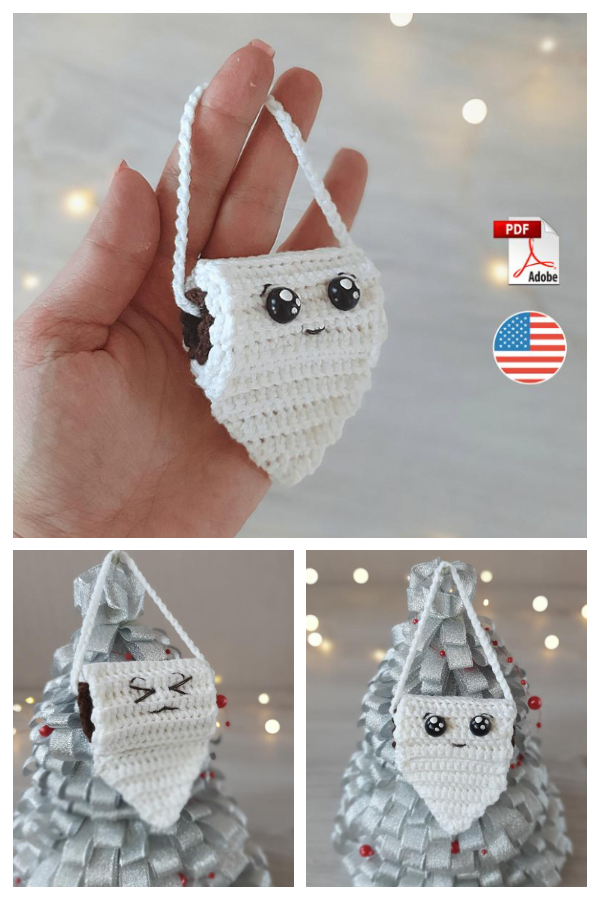 Loo Roll Quarantine Christmas Ornaments Crochet Patterns