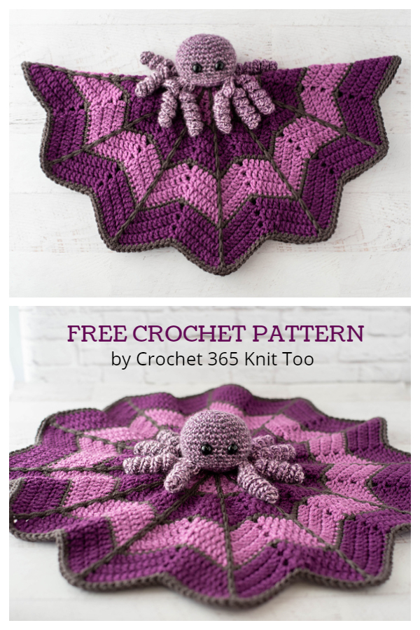 Spider on a Web Lovey Free Crochet Patterns