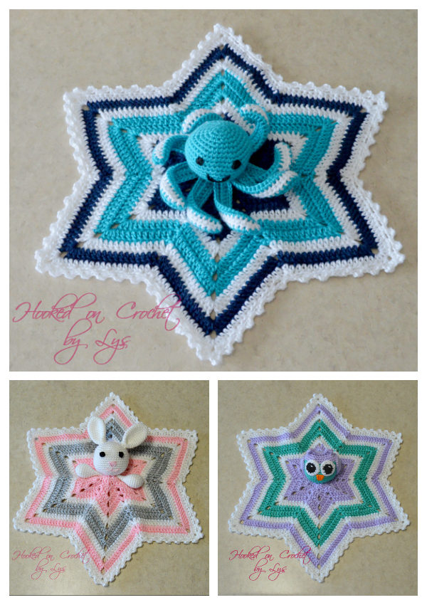 6 Point Star Spider Lovey Free Crochet Patterns