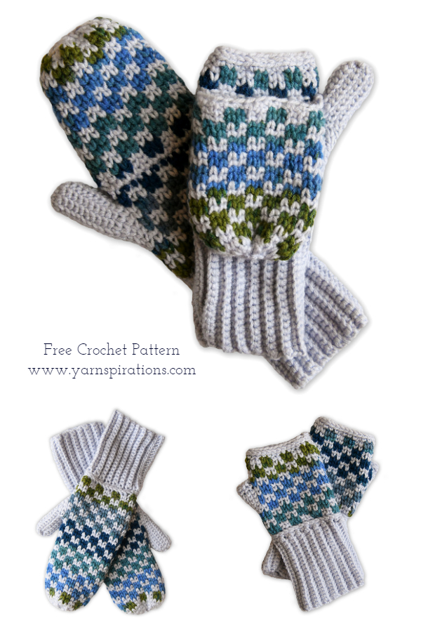 3 in 1 Hand Warmers Free Crochet Patterns