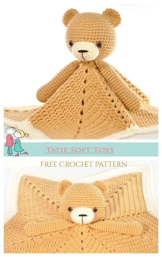 Lovey Blanket Bear Security Blanket Free Crochet Patterns