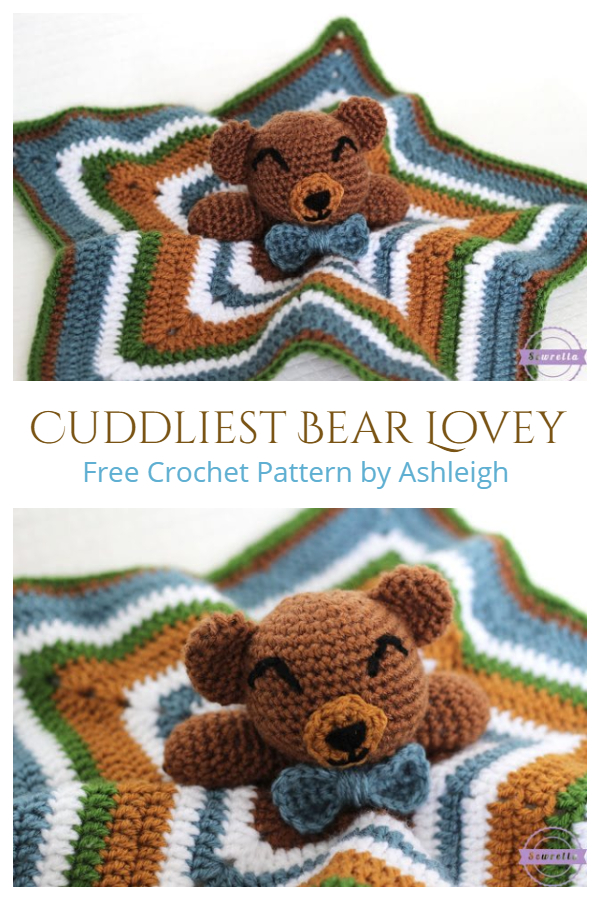 The Cuddliest Bear Lovey Free Crochet Patterns