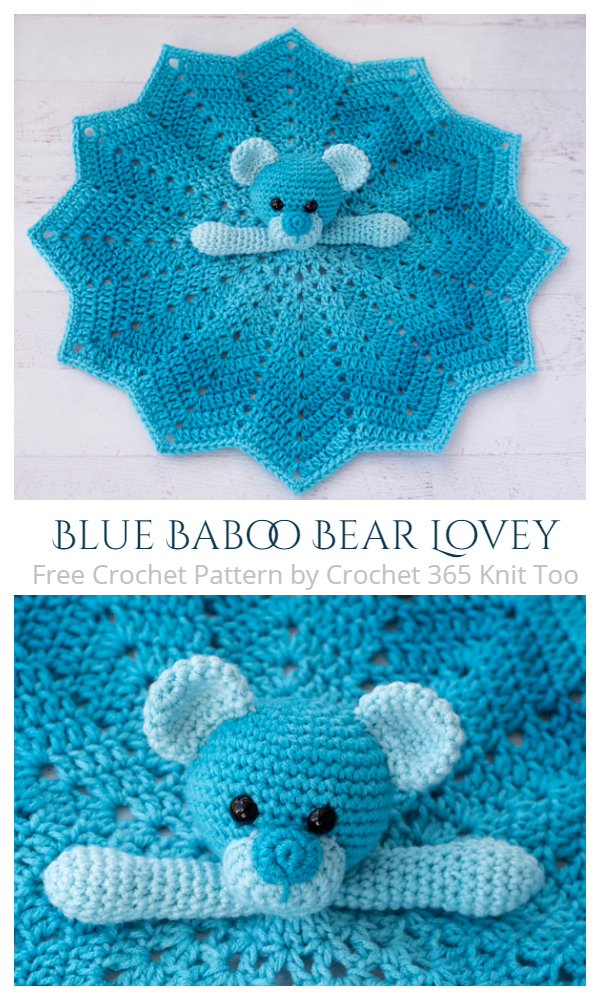 Blue Baboo Bear Lovey Free Crochet Patterns