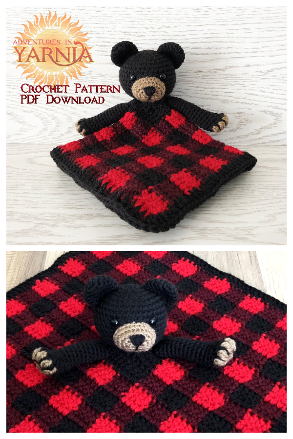 Baby Bear Lovey Free Crochet Patterns & Paid
