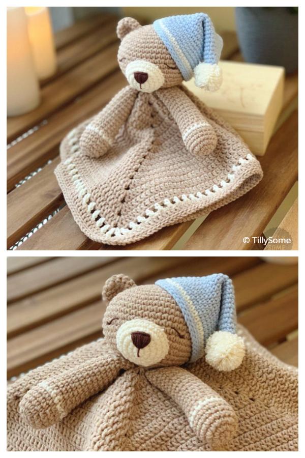 Teddy Bear Lovey Crochet Patterns