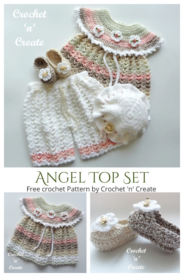 Baby Angel Top Set Free Crochet Patterns