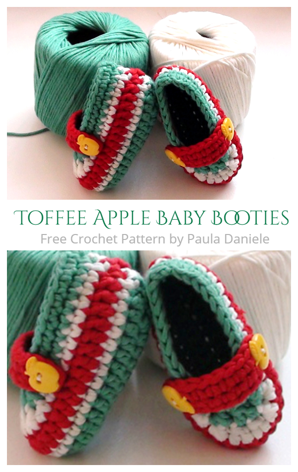Toffee Apple Loafer Booties Free Crochet Patterns + Video