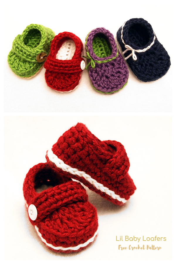 Lil Baby Loafer Booties Free Crochet Patterns