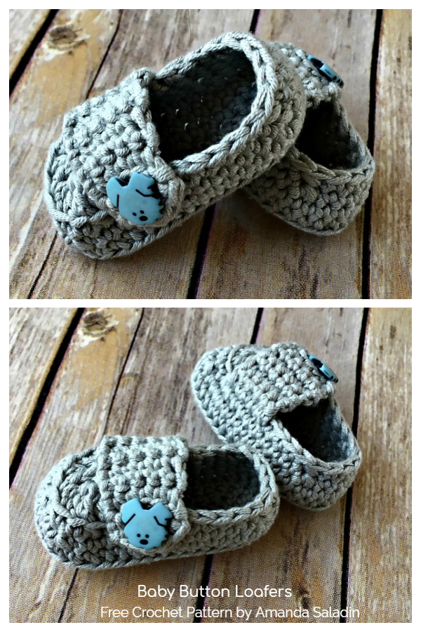 Baby Button Loafers Free Crochet Patterns