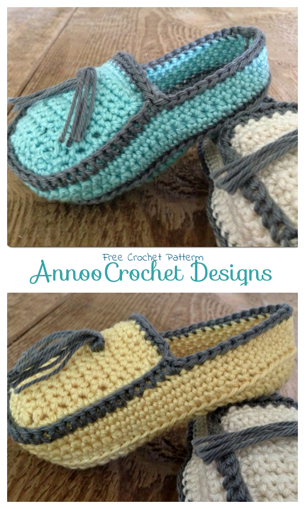 Baby Loafer Booties Free Crochet Patterns
