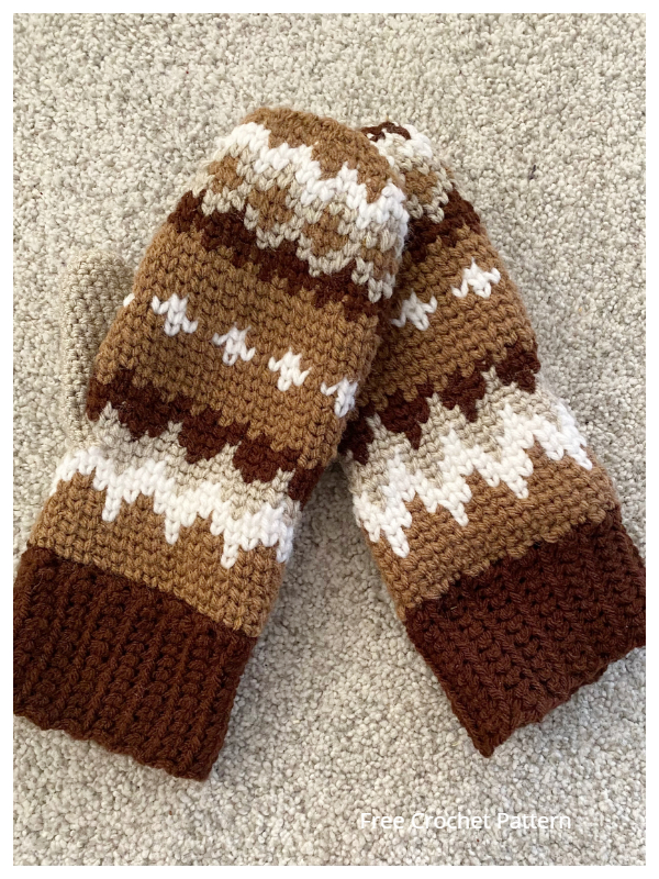 Bernie Sanders Inspired Mittens Free Crochet Patterns