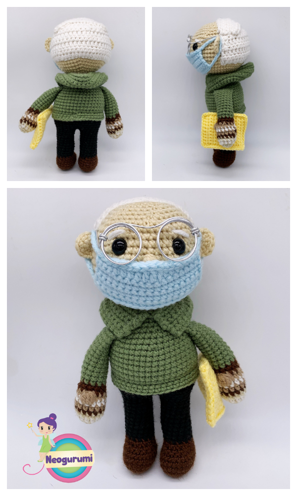 Amigurumi Bernie Sanders with Mittens Free Crochet Patterns