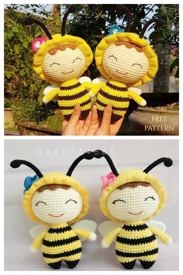 Crochet Bee Doll Amigurumi Free Patterns