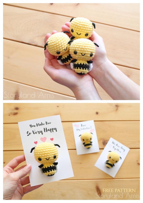 Crochet Burt the Baby Honey Bee Amigurumi Free Patterns