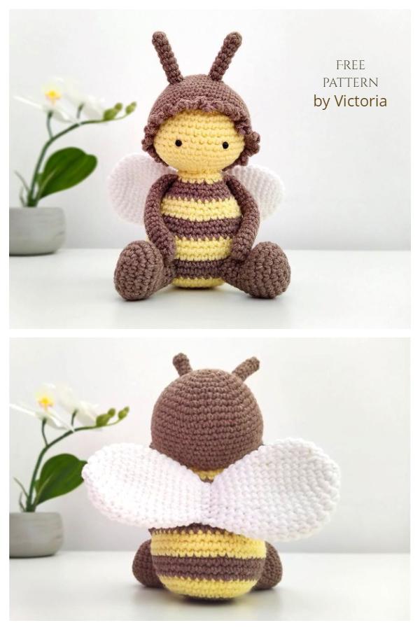 Crochet Honey Bee Doll Amigurumi Free Patterns