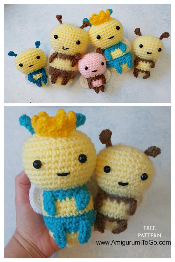 Crochet Bee Family Amigurumi Free Patterns