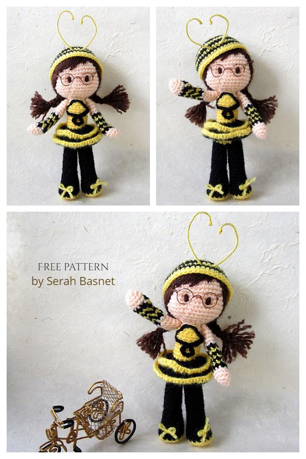 Crochet Bee Girl Doll Amigurumi Free Patterns
