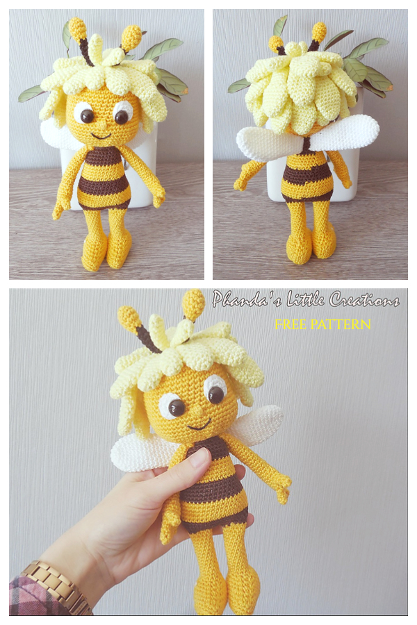 Crochet Maya the Bee and Willy Doll Amigurumi Free Patterns