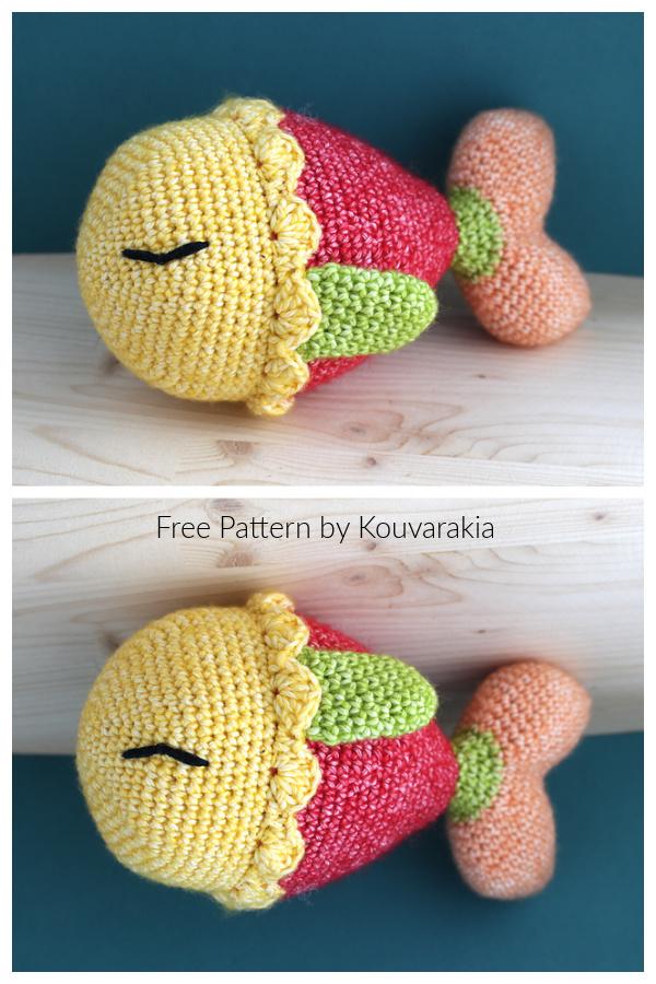 Crochet Colorful Fish Amigurumi Free Patterns