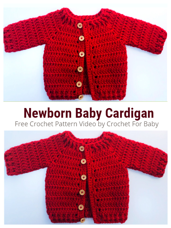 Easy Newborn Baby Cardigan Free Crochet Pattern + Video