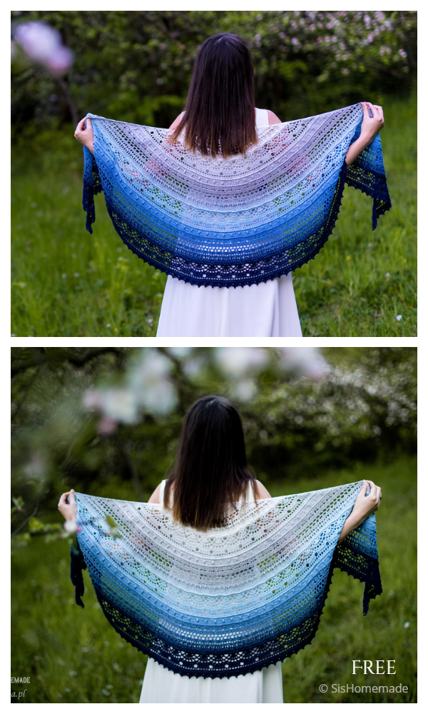 SisLove Half Circle Shawl Free Crochet Patterns