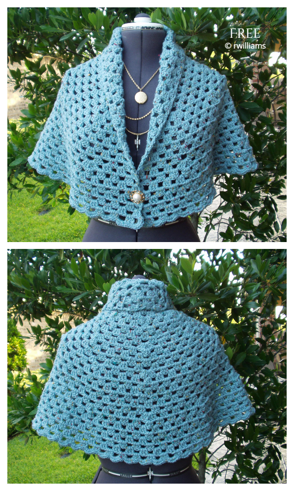 My Friend Enola Half Circle Shawl Free Crochet Patterns