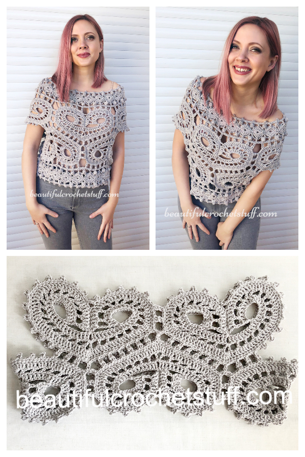 Valentine Lace Sweetheart Crop Top Free Crochet Patterns + Video