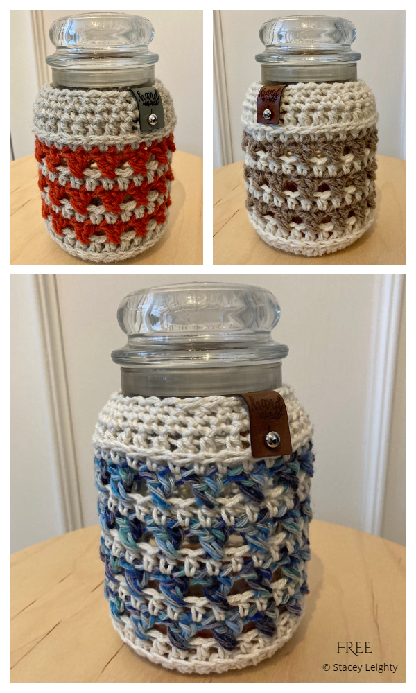 Farmhouse Jar Cozy Free Crochet Patterns