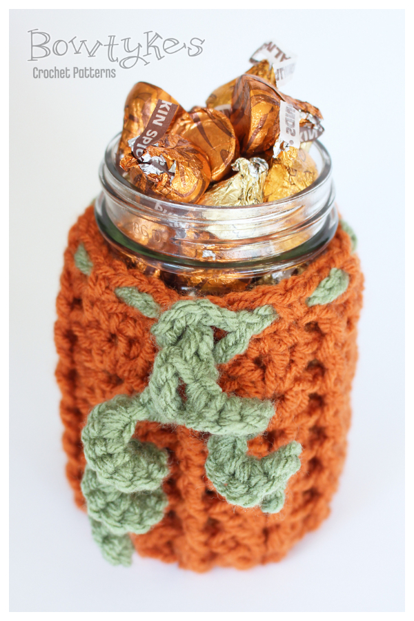 Pumpkin Jar Cozy Free Crochet Patterns