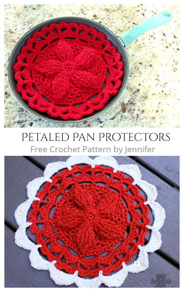 Petaled Pan Protectors Free Crochet Patterns
