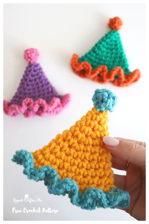 Mini Party Hat Free Crochet Patterns