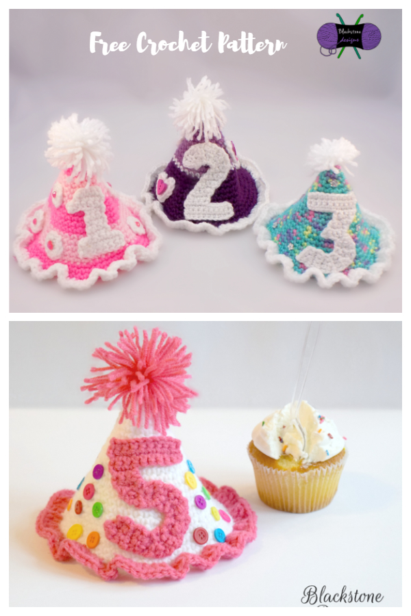 Birthday Party Hat Free Crochet Patterns