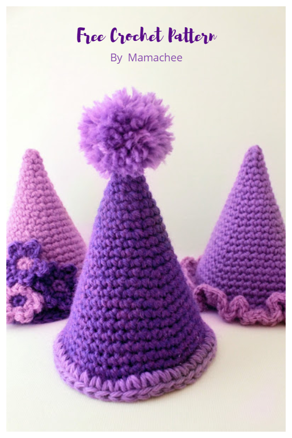 Simple Party Hat Free Crochet Patterns
