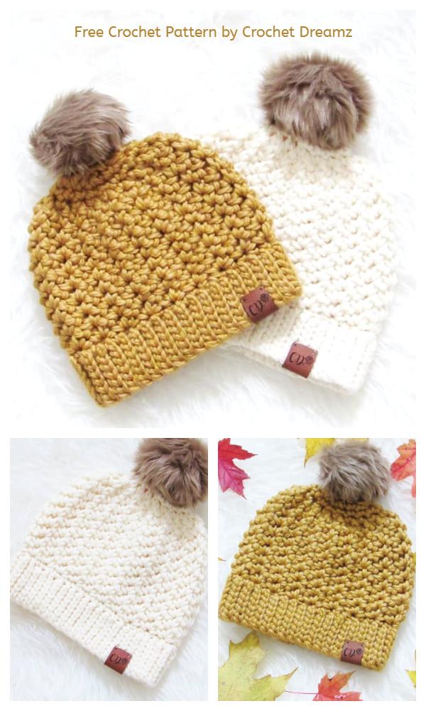 Simple Beanie Hat Free Crochet Pattern