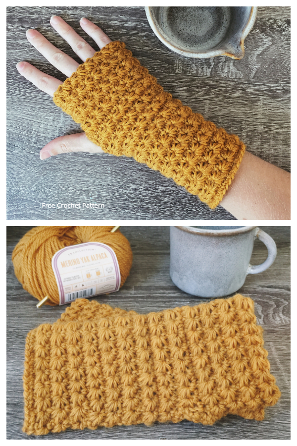 Star Stitch Hand Warmers Free Crochet Patterns