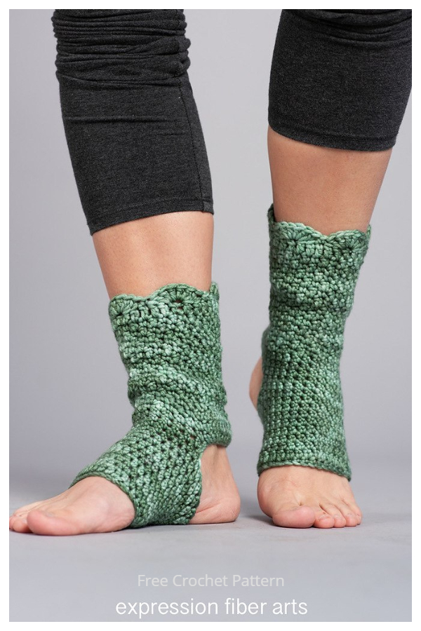 Shanti Yoga Socks Free Crochet Patterns