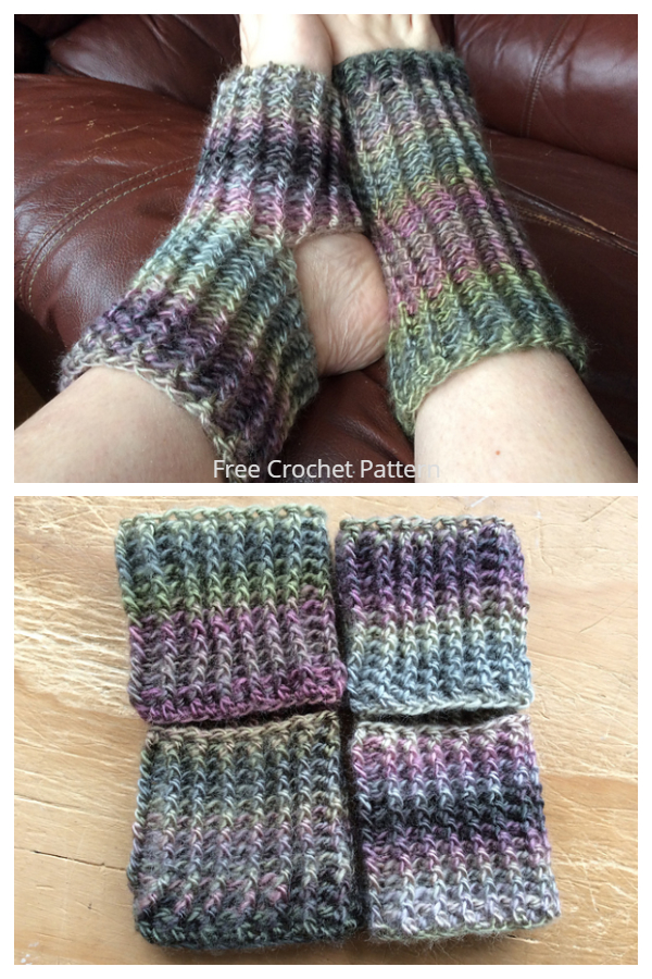 Ribbed Yoga Socks Free Crochet Patterns