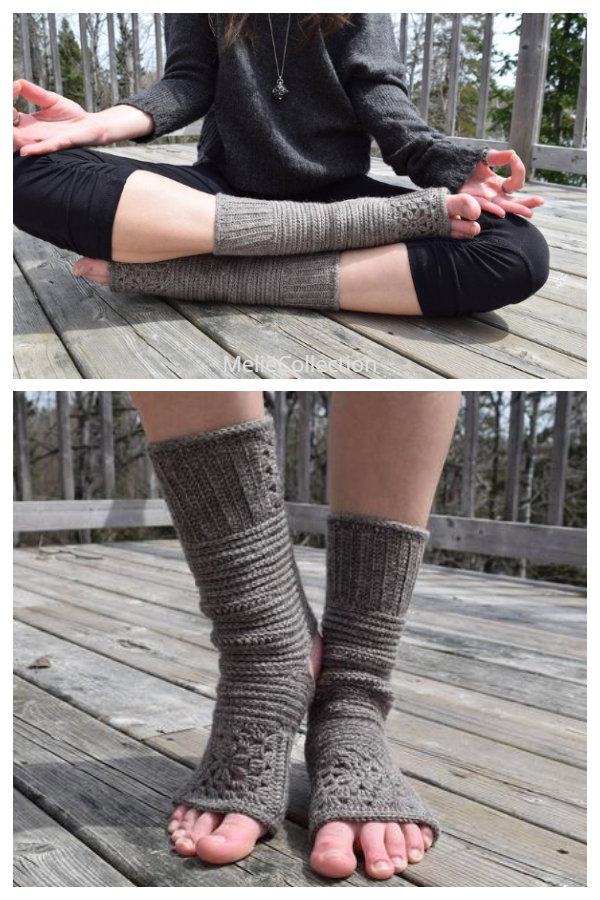 Tadāsana Granny Square Yoga Socks Crochet Patterns